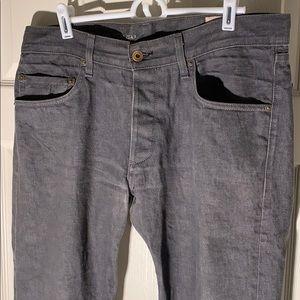 Rag & Bone 34x34 Slim Leg Grey Jeans